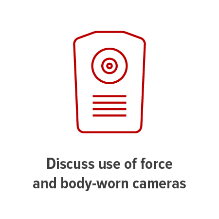 tile graphic representing use of force, body-worn camera